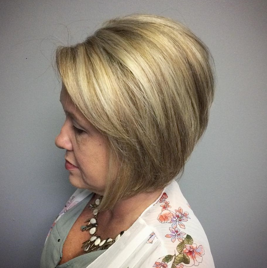 60 Trendiest Hairstyles And Haircuts For Women Over 50 In 2020 For Best And Newest Wedge Bob Hairstyles (View 1 of 20)