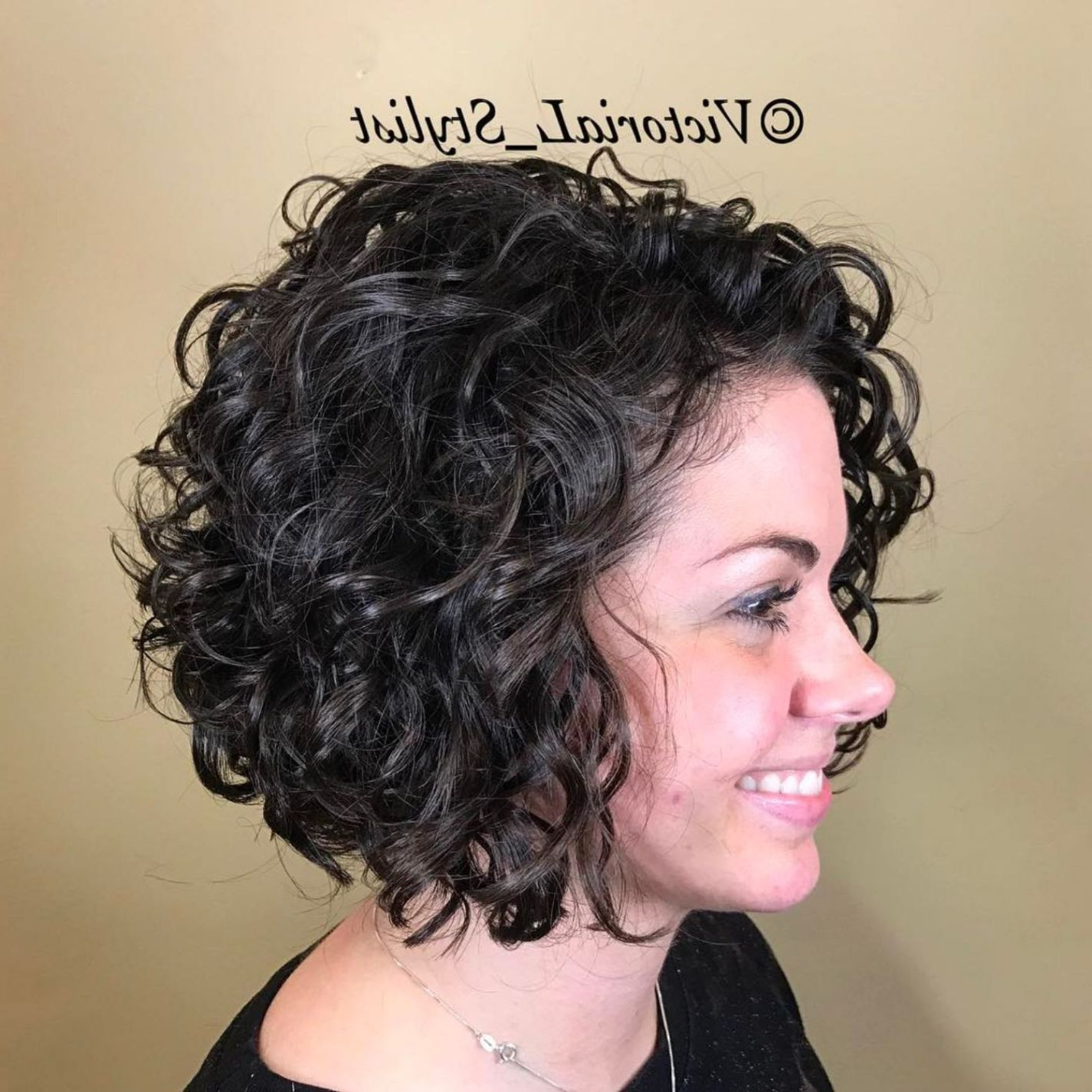 65 Different Versions Of Curly Bob Hairstyle In (View 4 of 20)