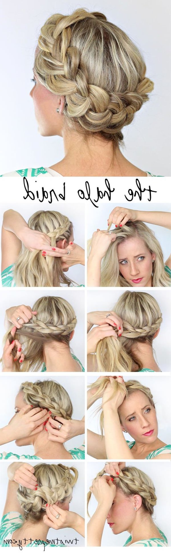 66 Stunning Halo Braid Ideas That You Will Love With Famous Braided Halo Hairstyles (View 17 of 20)