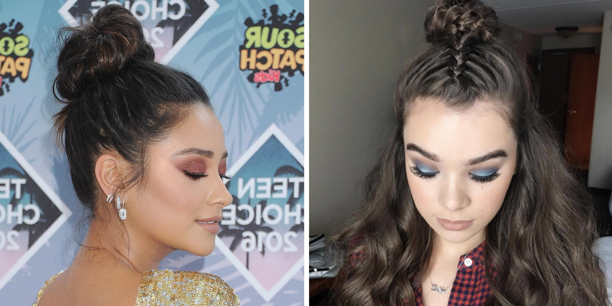 7 Photos Of Embellished Braided Buns – Braided Top Knot Hair Within Latest Hoop Embellished Braids Hairstyles (Gallery 12 of 20)