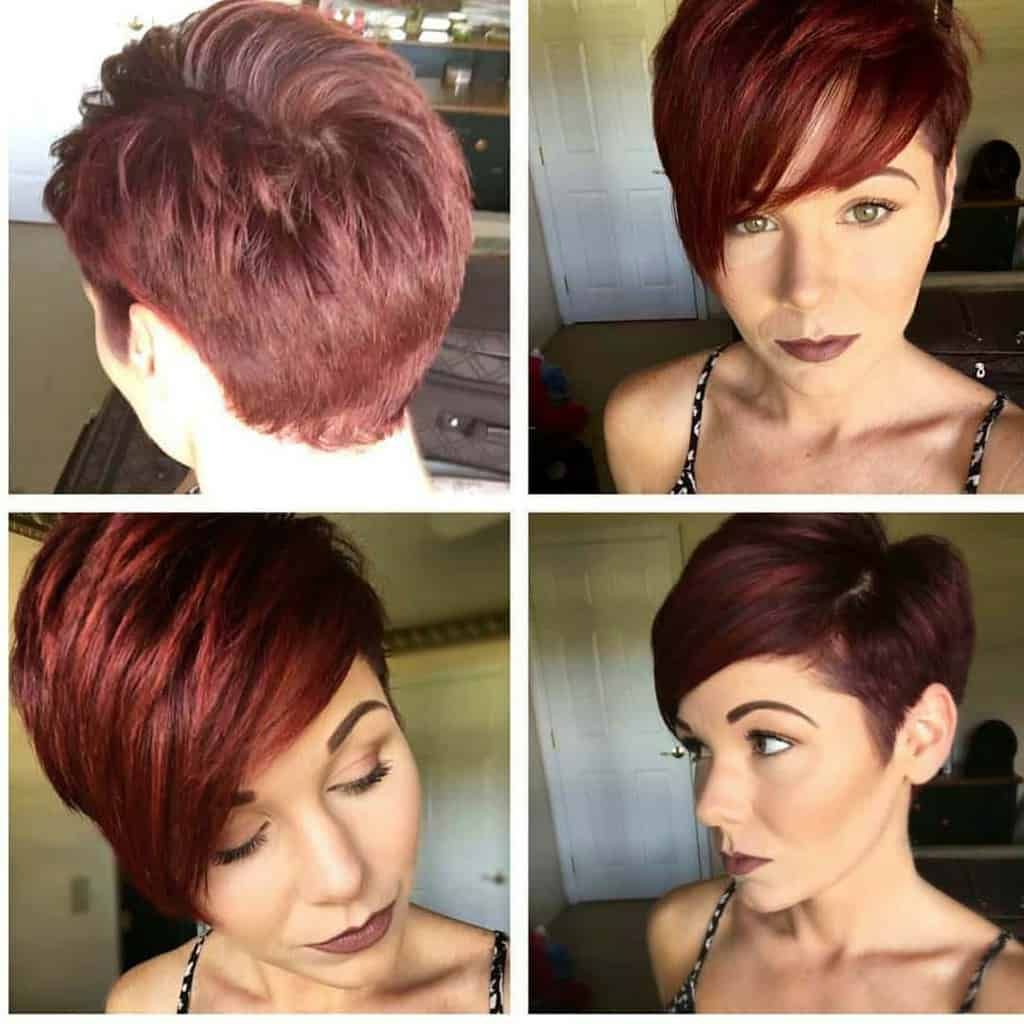 90 Smashing Pixie Haircut Trends For 2019 Inside Best And Newest Wavy Asymmetrical Pixie Haircuts With Pastel Red (View 5 of 20)