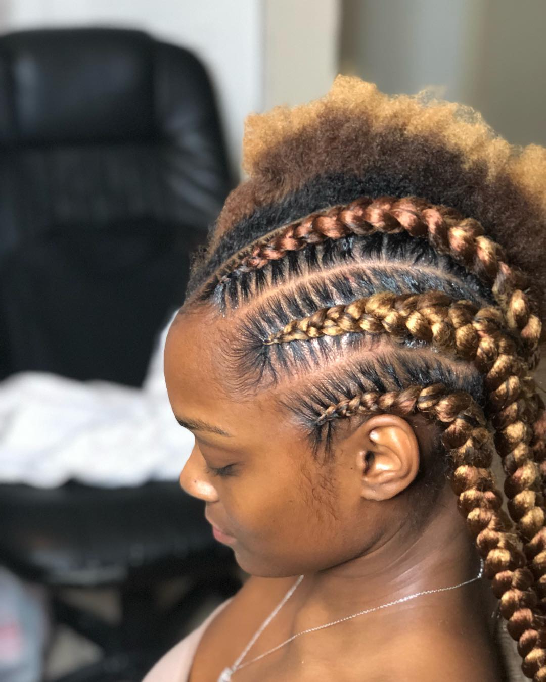 94 Artistic Ghana Braids To Try This Season – Prochronism With Regard To Favorite Medium Sized Braids Hairstyles (Gallery 13 of 20)