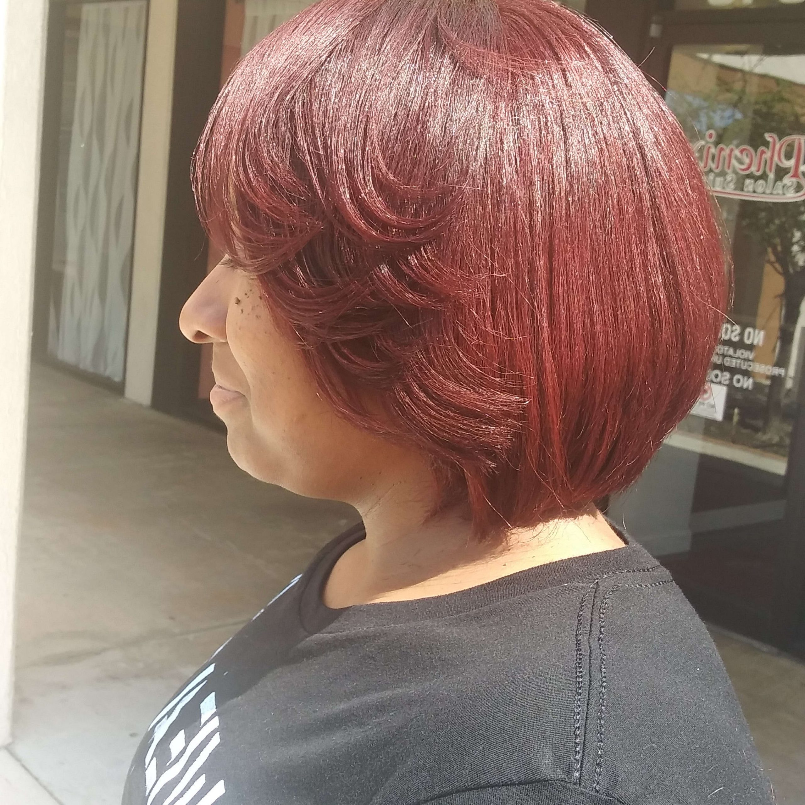 April's Haircare Design, Llc Within Most Recently Released Pageboy Maroon Red Pixie Haircuts (View 12 of 20)