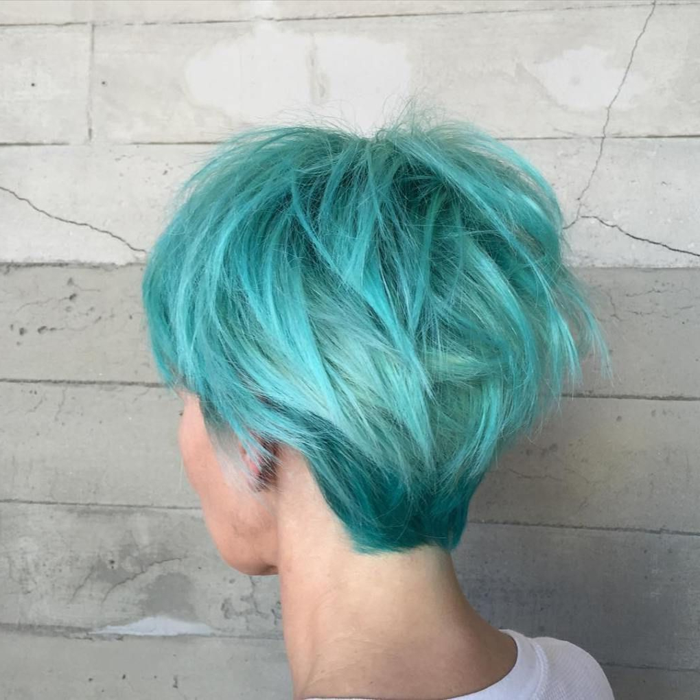 Aqua Hair Color Throughout Well Known Aqua Green Undercut Hairstyles (View 4 of 20)
