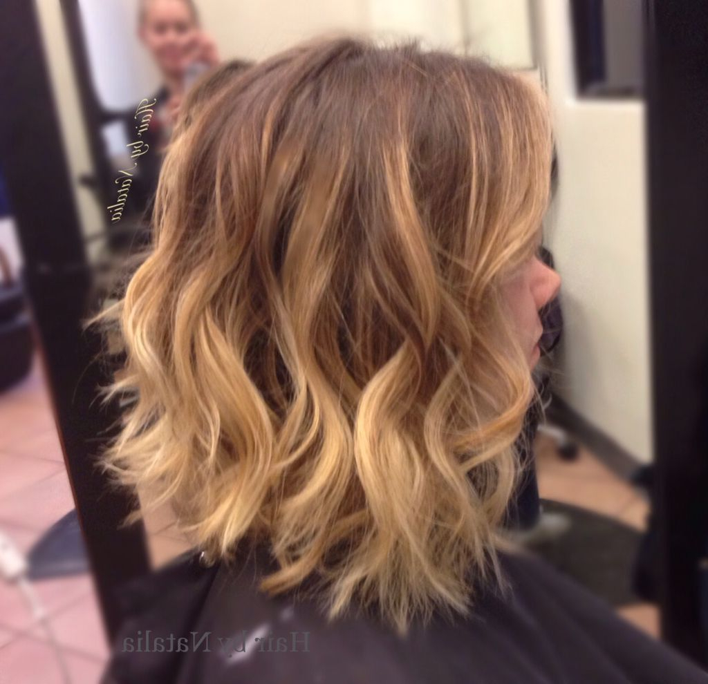Balayage And Messy Beach Waves On Short Hair (View 10 of 20)