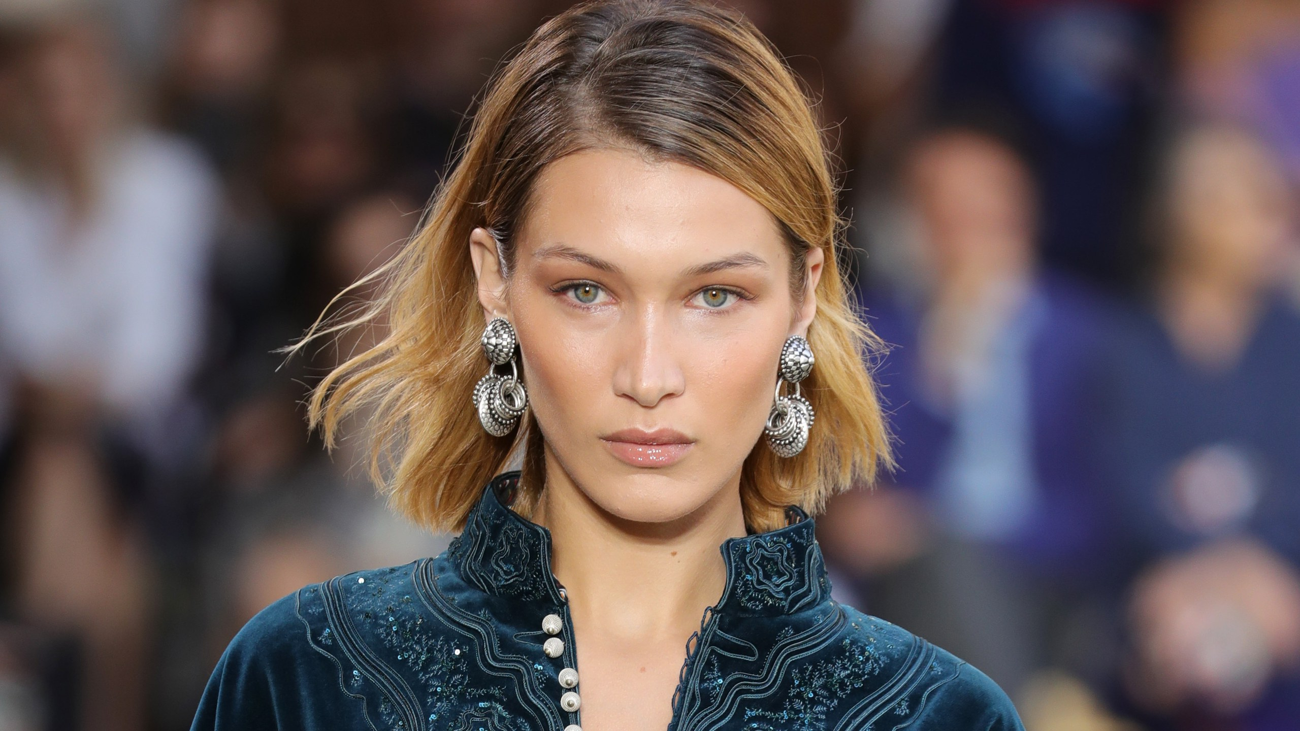 Bella Hadid Dyed Her Hair Jet Black — See Her Bold New Look For 2018 Jet Black Chin Length Sleek Bob Hairstyles (View 16 of 20)