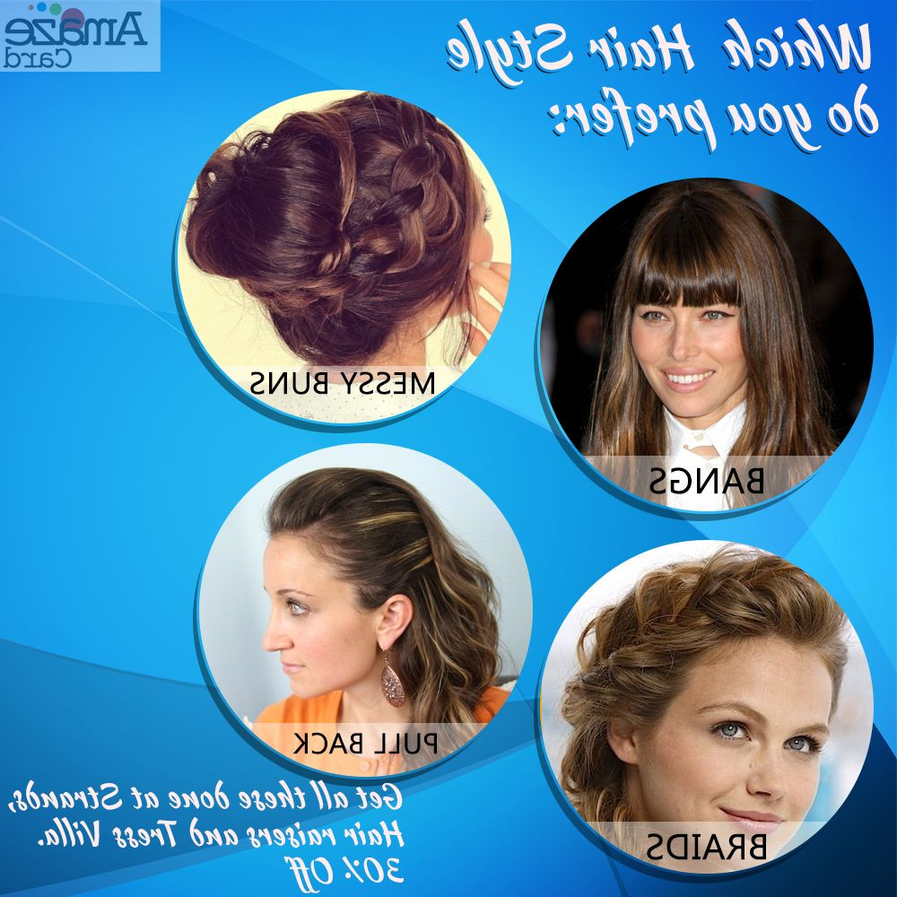 Best And Newest Crisp Pulled Back Braid Hairstyles Throughout Which Hair Style Do You Prefer: 1 Bangs 2 Messy Buns (View 10 of 20)