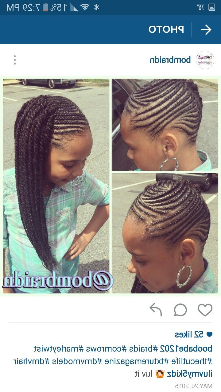 Best And Newest Crown Cornrow Hairstyles For Cornrow Hairstyles For High School – Folade (View 19 of 20)