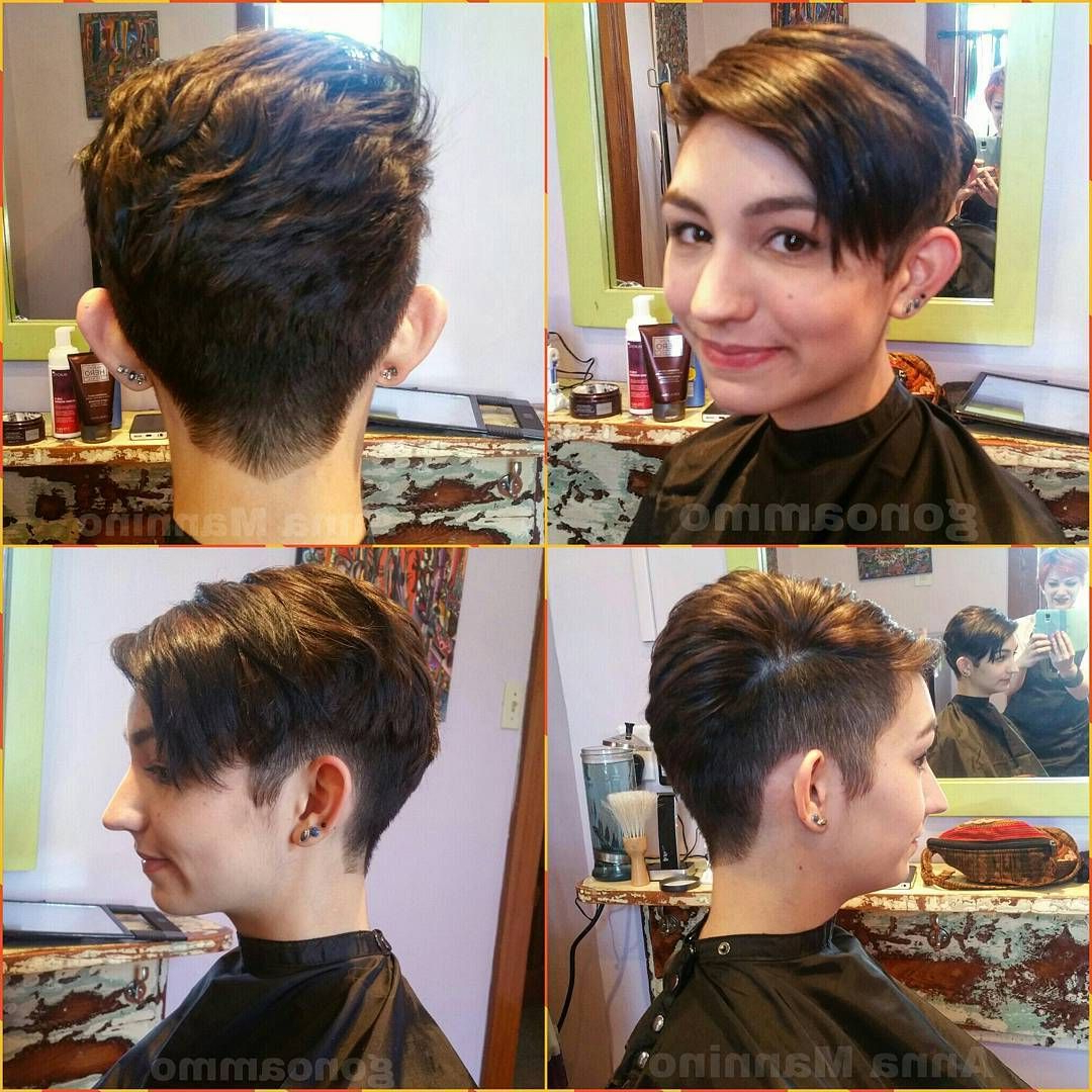 Best And Newest Disconnected Pixie Haircuts With An Undercut Intended For Edgy Disconnected Undercut Pixiecut, Faux Hawk Short Haircut (View 6 of 20)