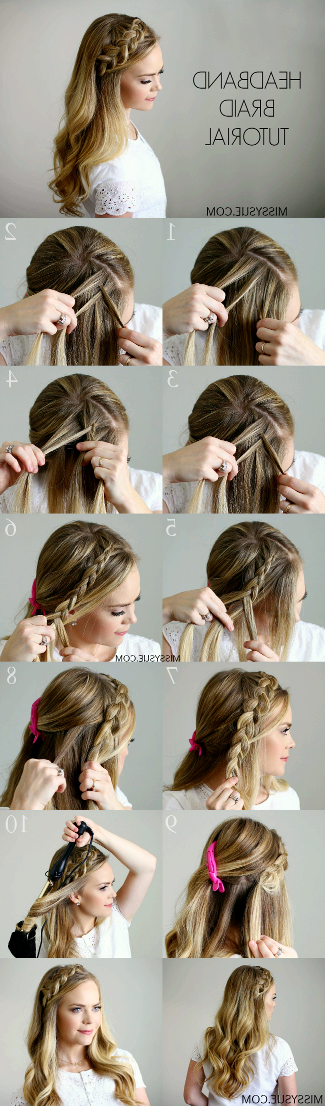 Best And Newest Headband Braid Hairstyles With Long Waves Throughout Headband Braid – Style Like Pro (View 8 of 20)