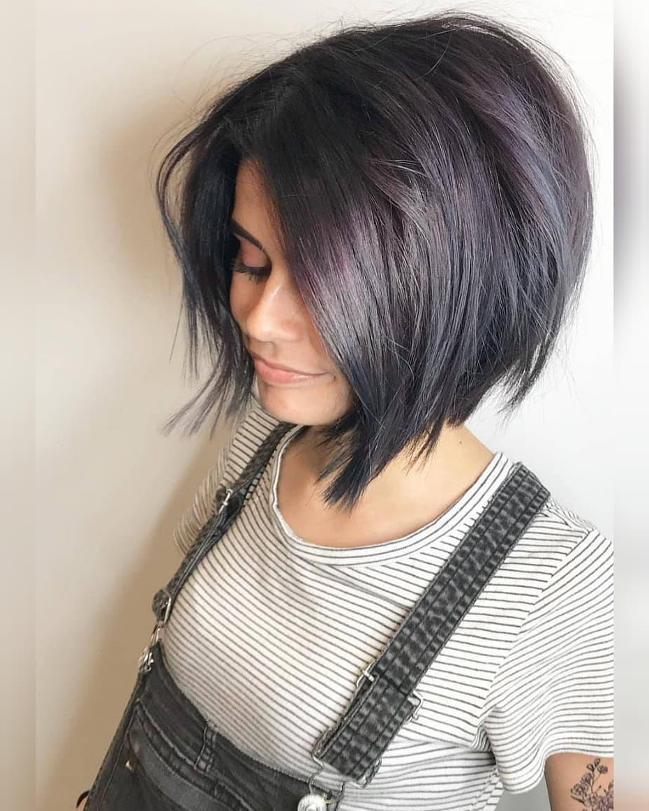 Best And Newest Jet Black Chin Length Sleek Bob Hairstyles Inside Flattering Inverted Bob Haircuts – Craft O Maniac (View 4 of 20)