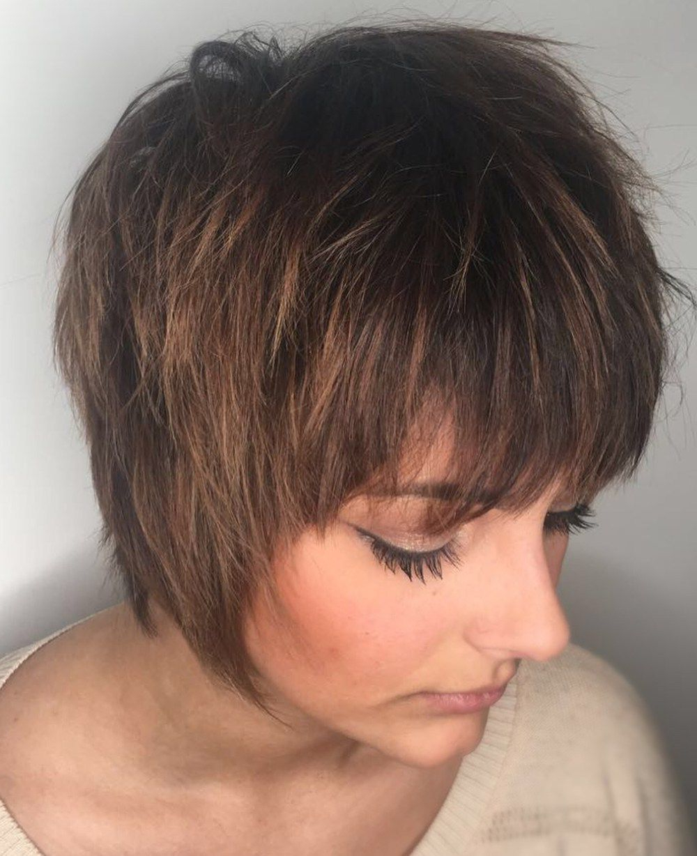 Best And Newest Shaggy Bob Hairstyles With Choppy Layers Throughout 70 Overwhelming Ideas For Short Choppy Haircuts In (View 6 of 20)