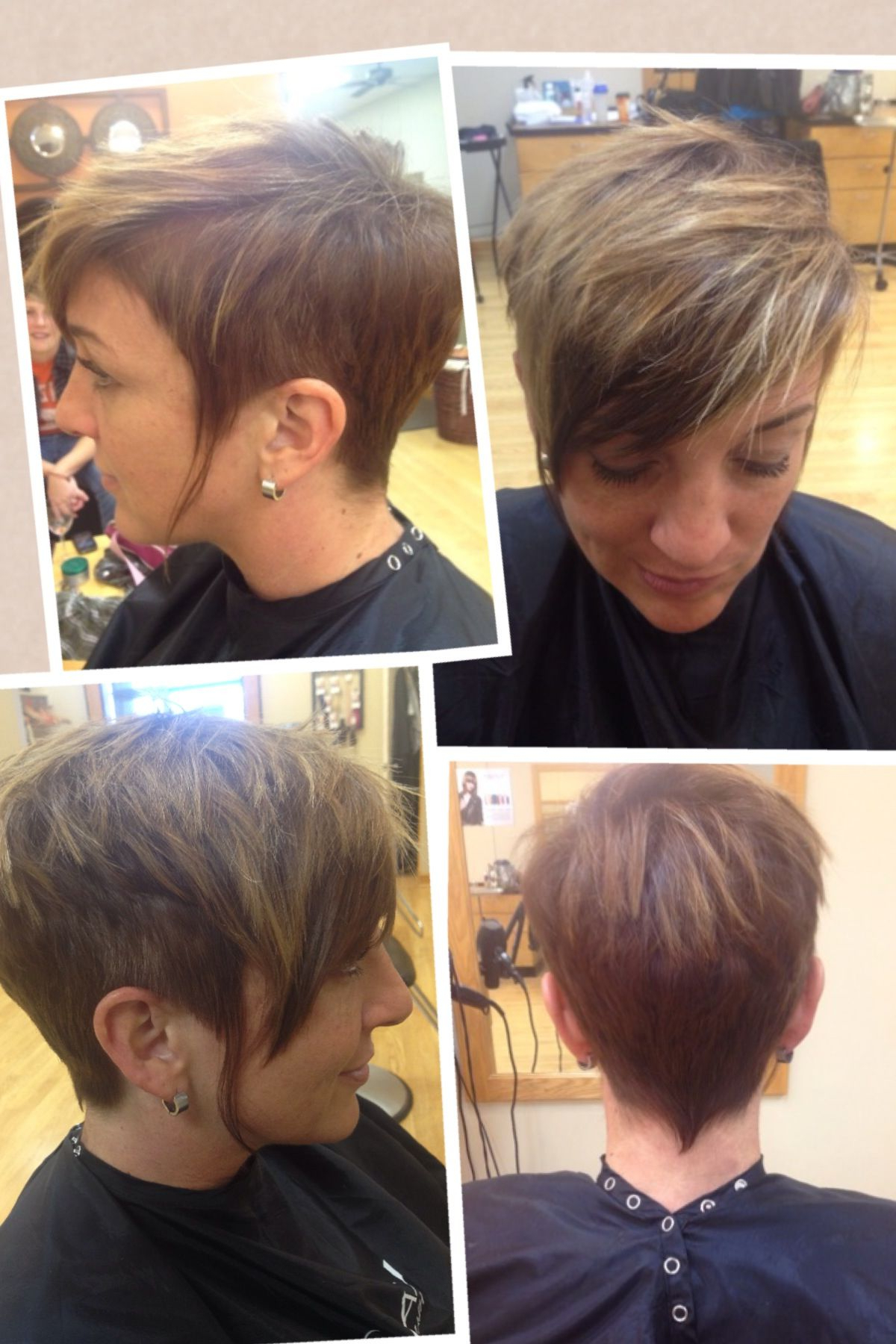 Best And Newest Short Side Swept Pixie Haircuts With Caramel Highlights Within Undercut Pixie, Dark Golden Brown Base With Balayage (View 7 of 20)