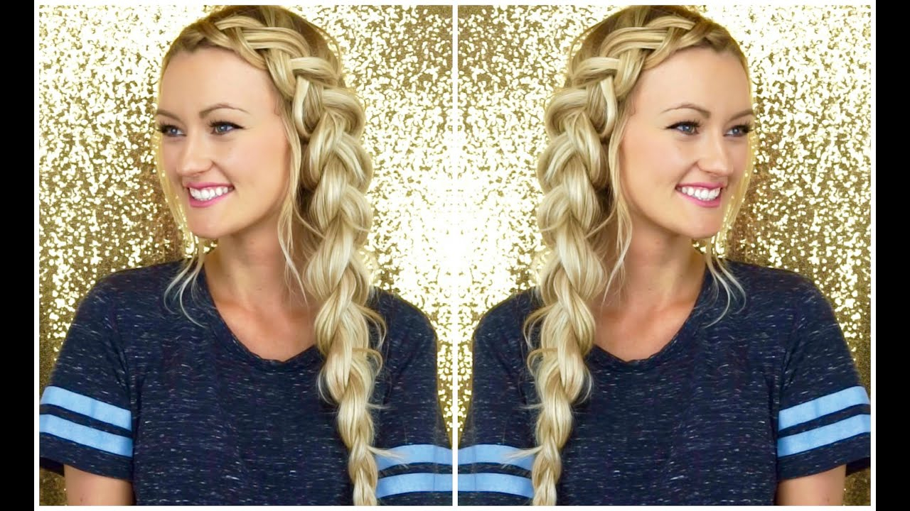 Best And Newest Side Dutch Braid Hairstyles In Chunky Side Dutch Braid Tutorial (View 15 of 20)