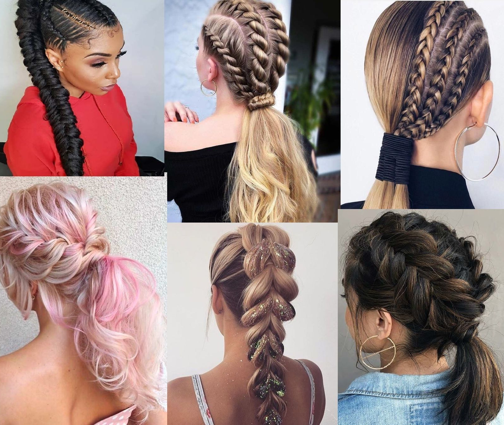 Best Braided Ponytail Hairstyle Pictures Ideasbraids Pertaining To Most Recently Released Asymmetrical French Braid Hairstyles (View 4 of 20)