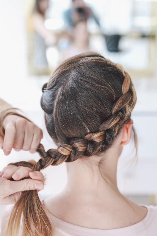 Black Tie Wedding Hairstyle: Crown Braid Tutorial (View 11 of 20)