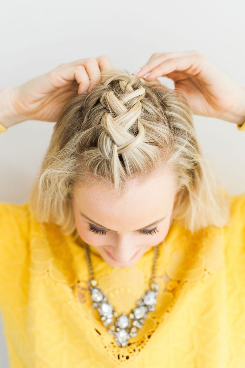 Braided Faux Hawk Tutorial – The Everygirl Pertaining To Favorite Faux Hawk Braid Hairstyles (View 4 of 20)