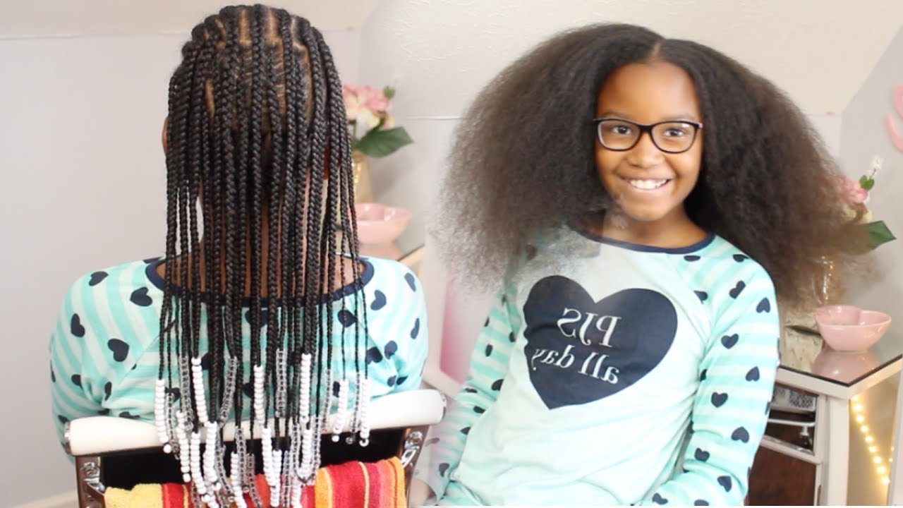 Braided Hairstyle ▸ Kids Natural Hair Pertaining To Latest Beaded Braids Hairstyles (View 4 of 20)