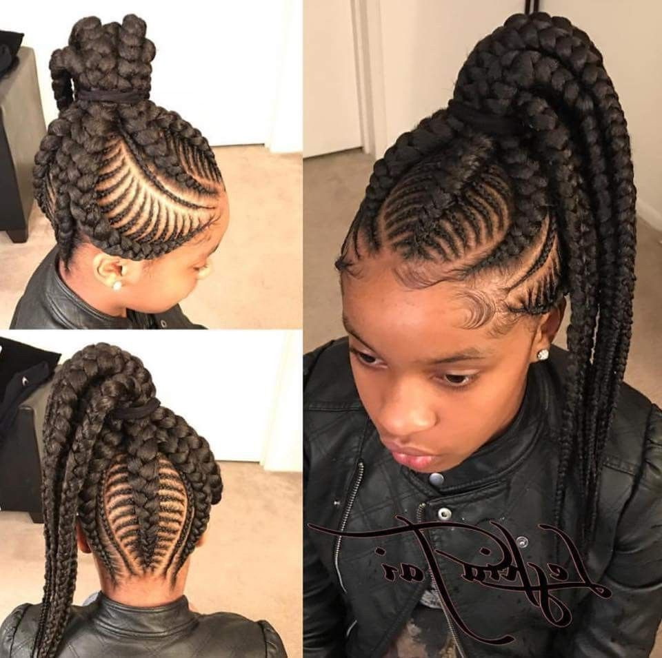 Braided Hairstyles For Black With Regard To Most Recent High Ponytail Braid Hairstyles (View 3 of 20)