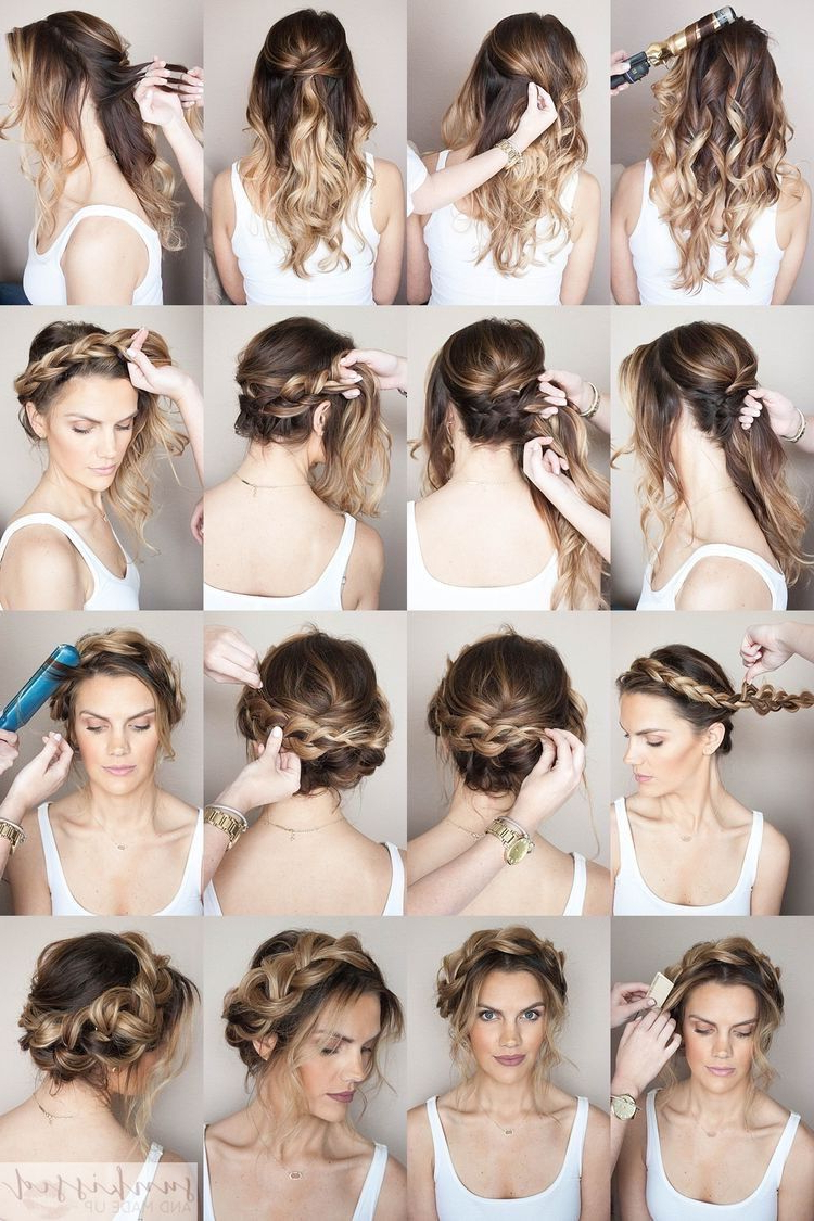 Braided Hairstyles, Hair Styles For Favorite Messy Crown Braid Hairstyles (View 7 of 20)