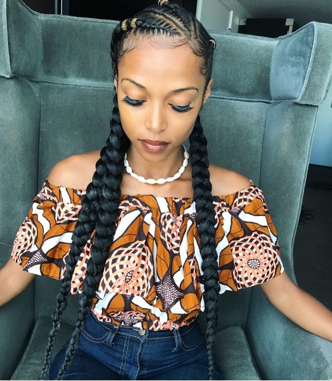 Braided Hairstyles, Two Pertaining To Most Recent Cornrow Accent Braids Hairstyles (View 4 of 20)