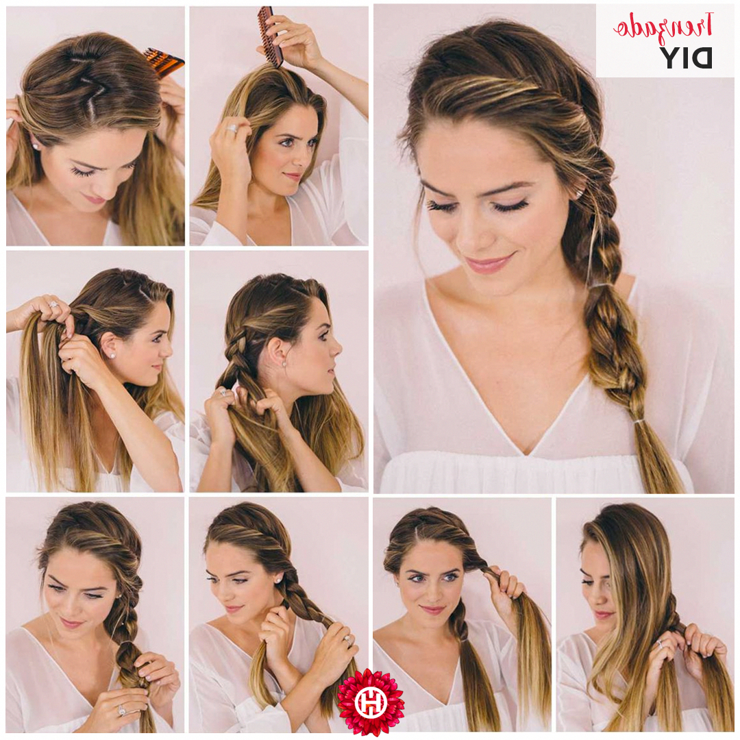 Braided Halo Hairstyle: Easy Updo For Long Hair In 2019 With Popular Braided Halo Hairstyles (View 15 of 20)
