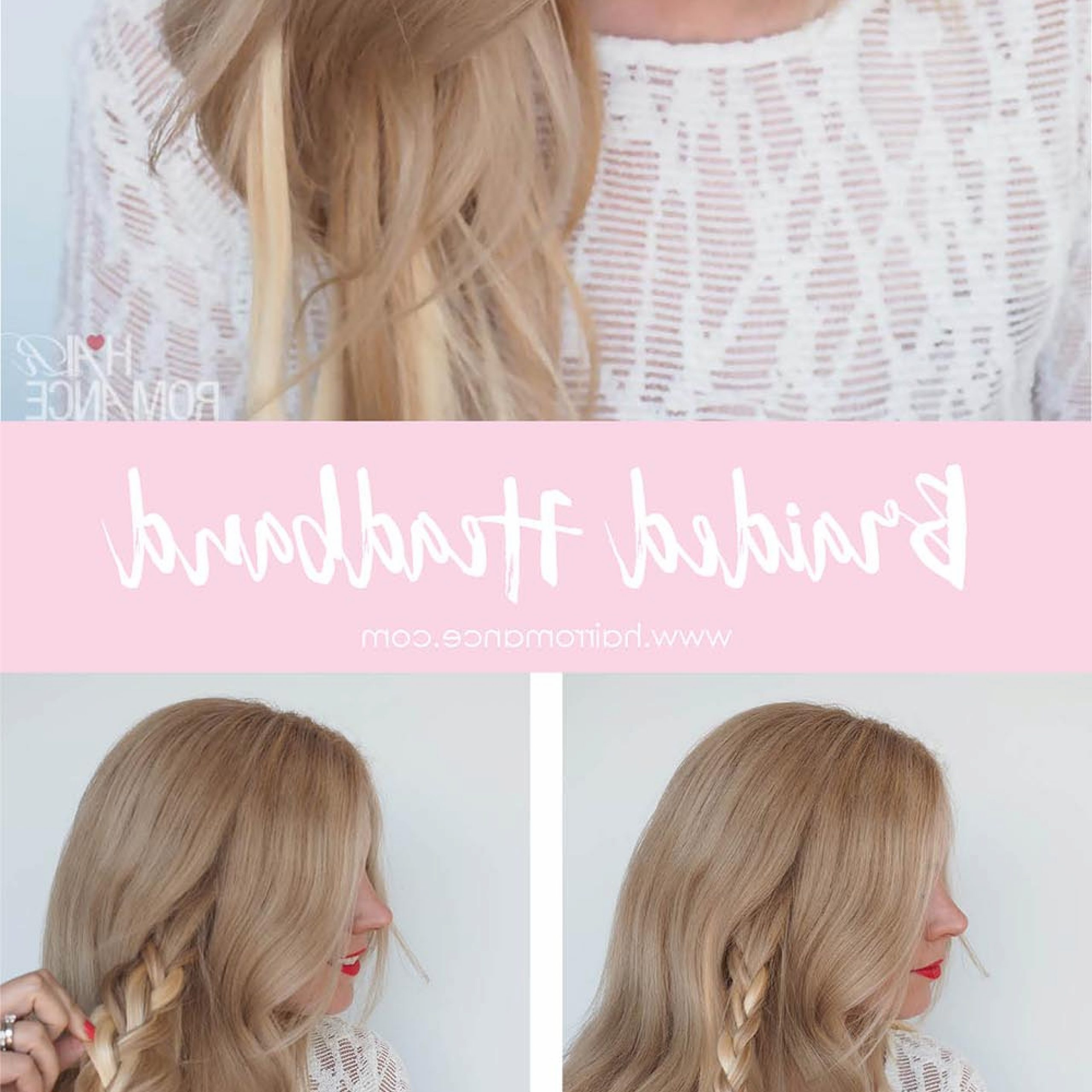 Braided Headband Hairstyle Tutorial – Hair Romance Pertaining To 2020 Full Headband Braid Hairstyles (View 4 of 20)