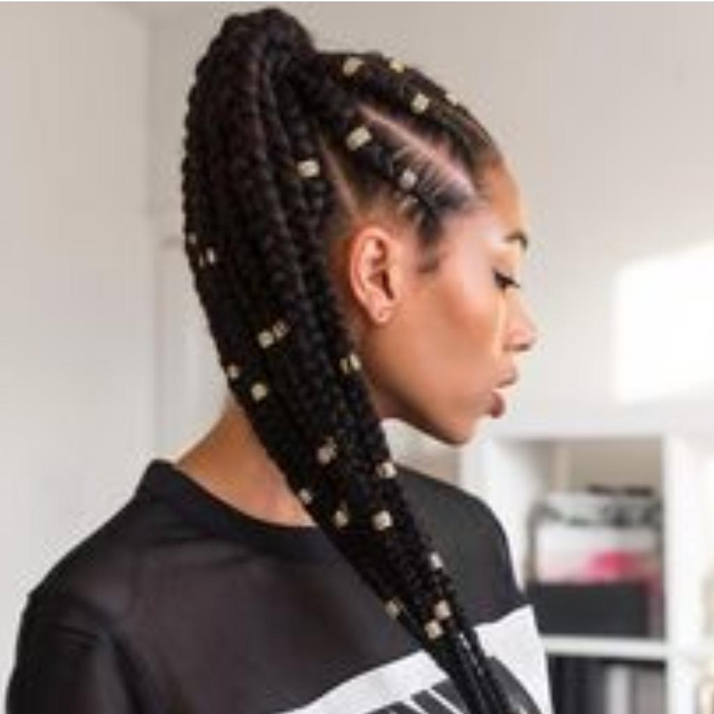 Braids Ponytail Hairstyles For Android – Apk Download Intended For Most Popular Billowing Ponytail Braid Hairstyles (View 7 of 20)