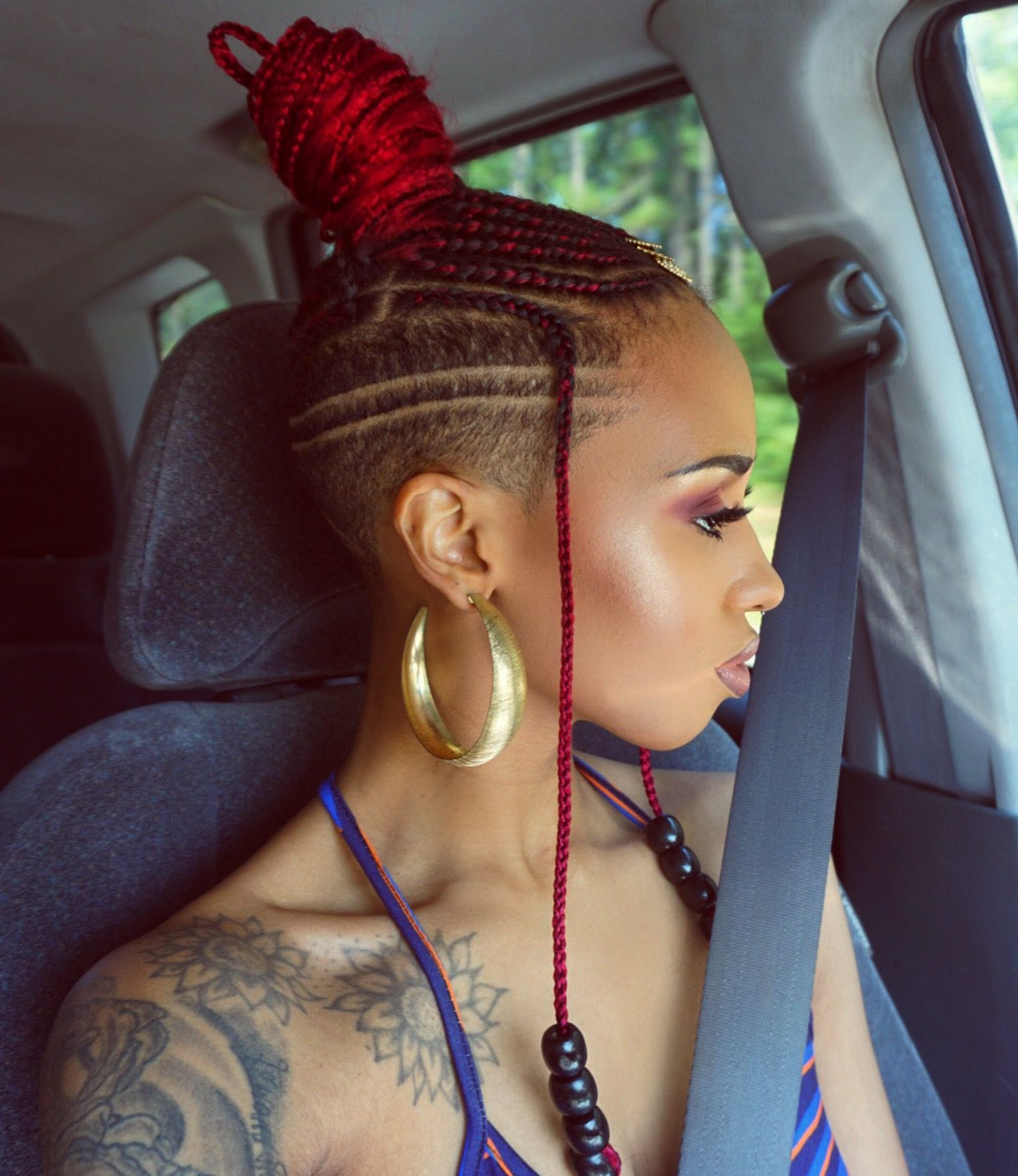 Featured Photo of Side Shaved Cornrows Braids Hairstyles