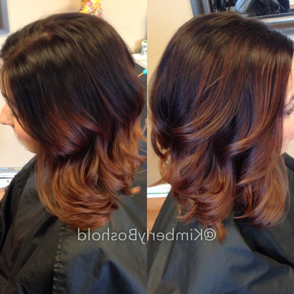 Collar Bone Length Long Layered Piecey Bob With A Dark Brown Intended For Popular Ombre Piecey Bob Hairstyles (View 11 of 20)
