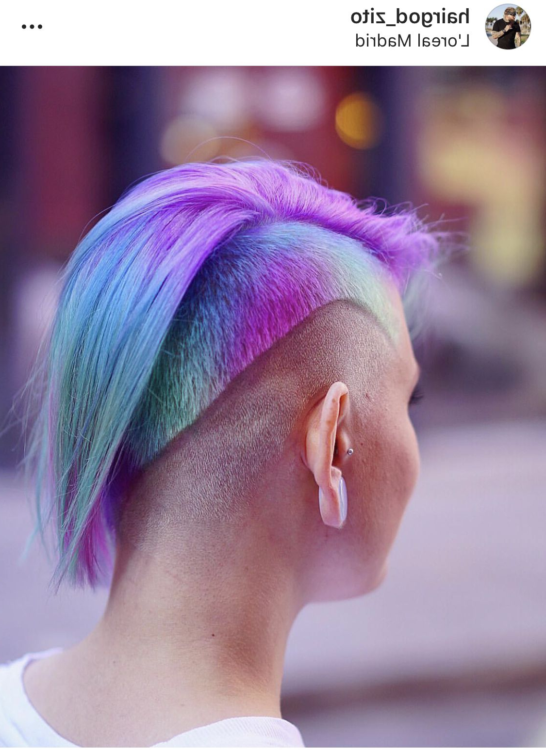 Colored Regarding Fashionable Faux Hawk Fade Haircuts With Purple Highlights (View 15 of 20)