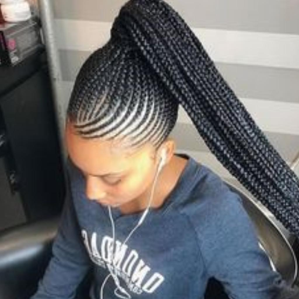 Current Billowing Ponytail Braid Hairstyles Within Braids Ponytail Hairstyles For Android – Apk Download (View 15 of 20)