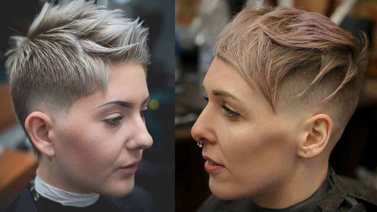 Current Disconnected Pixie Haircuts With An Undercut With Extreme Short Haircuts – Undercut Short Hair Women (Extreme Hair Makeover) (View 7 of 20)