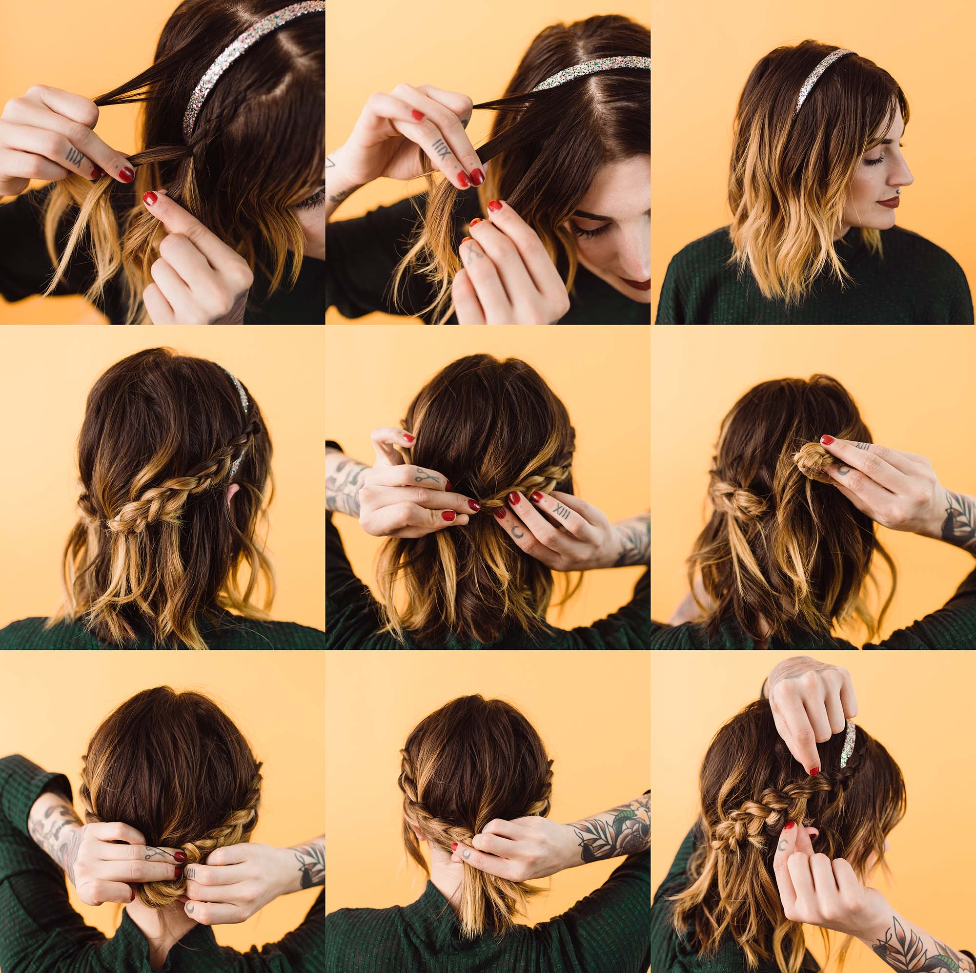 Current Headband Braid Hairstyles With Long Waves With Regard To Easy Updo Styles For Medium Or Long Hair – A Beautiful Mess (View 9 of 20)