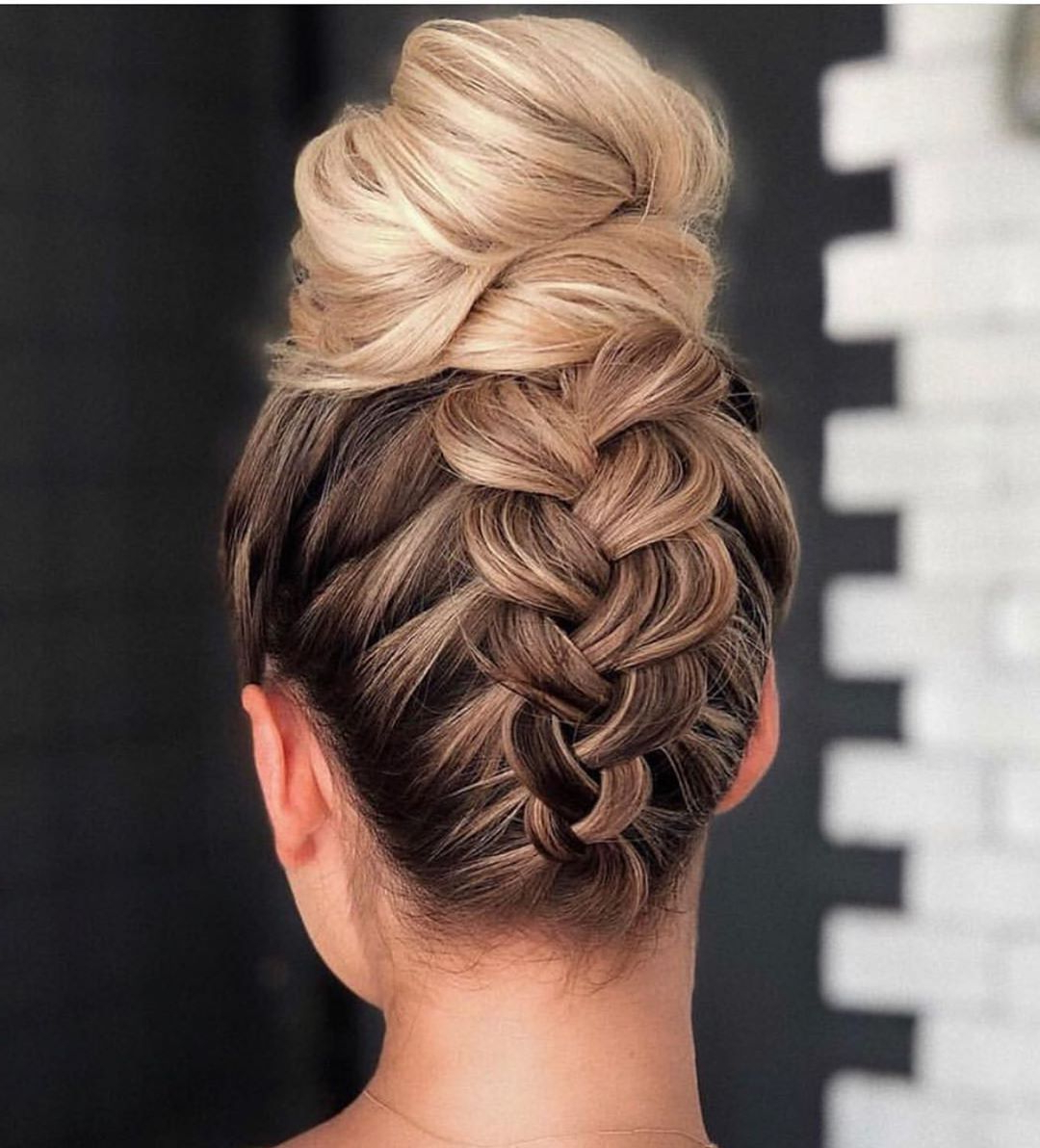 Current Modern Braided Top Knot Hairstyles Throughout 10 Beautiful Braided Updo Hairstyles For Women – Modern Updo (View 4 of 20)