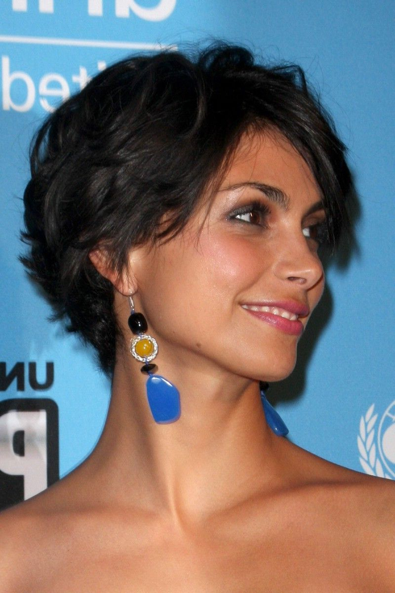 Current Morena Pixie Haircuts With Bangs Intended For Morena Baccarin Is So Beautiful! Loving Homeland Just (View 4 of 20)