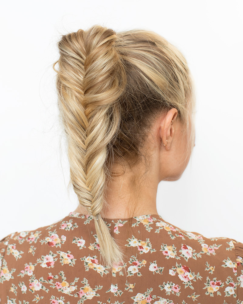 Current Ponytail Fishtail Braid Hairstyles Pertaining To How To Do A Fishtail Pony (View 3 of 20)