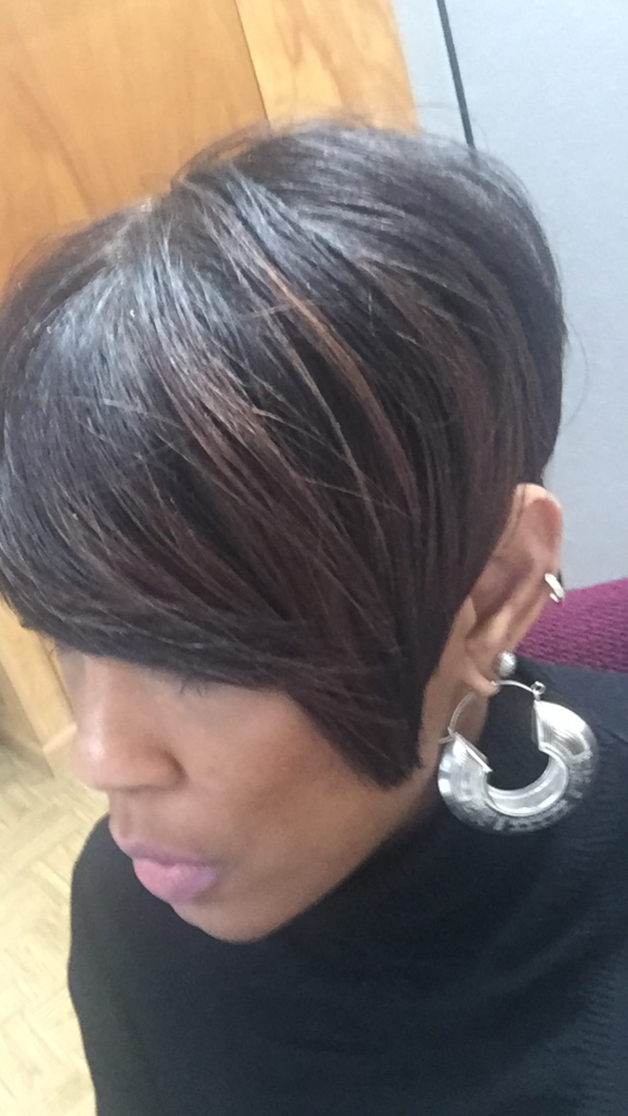 Current Short Black Bob Hairstyles With Bangs Regarding Tapered Bob With Highlights (for Summer Hair) (View 5 of 20)