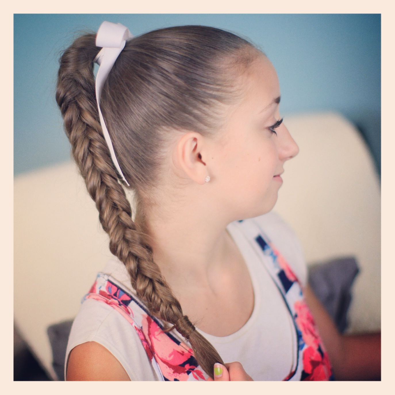 Cute Girls Within Newest Ponytail Fishtail Braid Hairstyles (View 11 of 20)