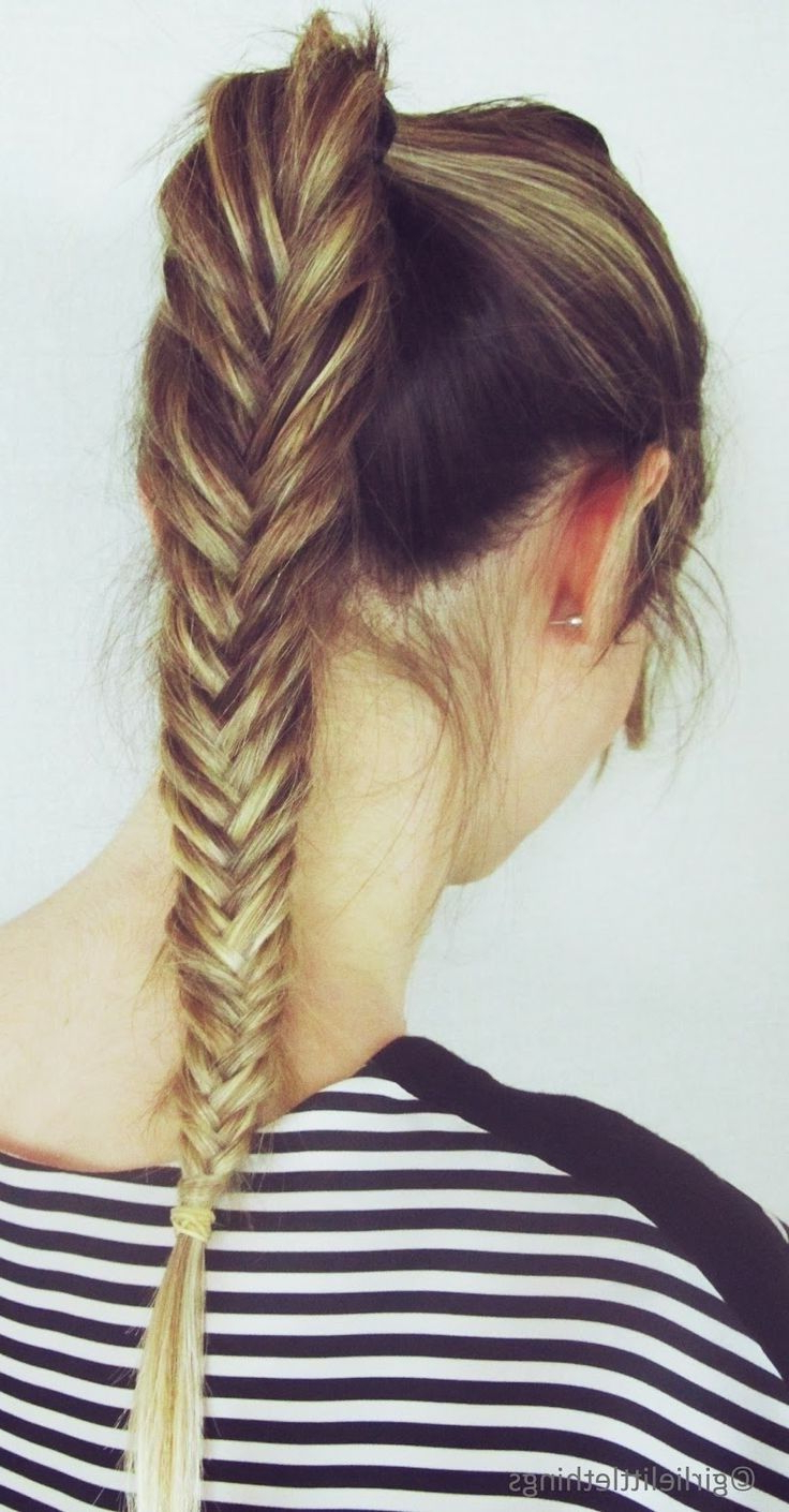 Cute Hairstyles For Long Hair: French Fishtail Braid Inside Most Recent Ponytail Fishtail Braid Hairstyles (View 13 of 20)
