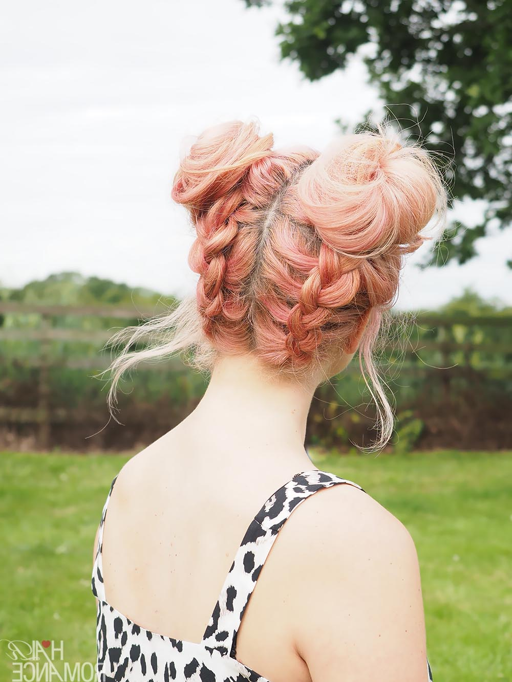 Diy Braided Space Buns Tutorial – Hair Romance For Newest Plaited Chignon Braid Hairstyles (View 15 of 20)