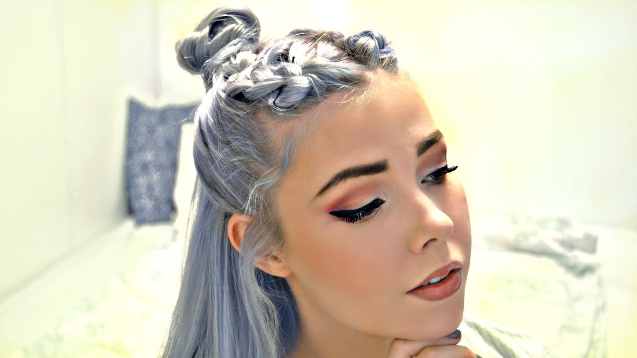 Double Braided Top Knot Regarding Most Up To Date Braided Topknot Hairstyles (View 7 of 20)