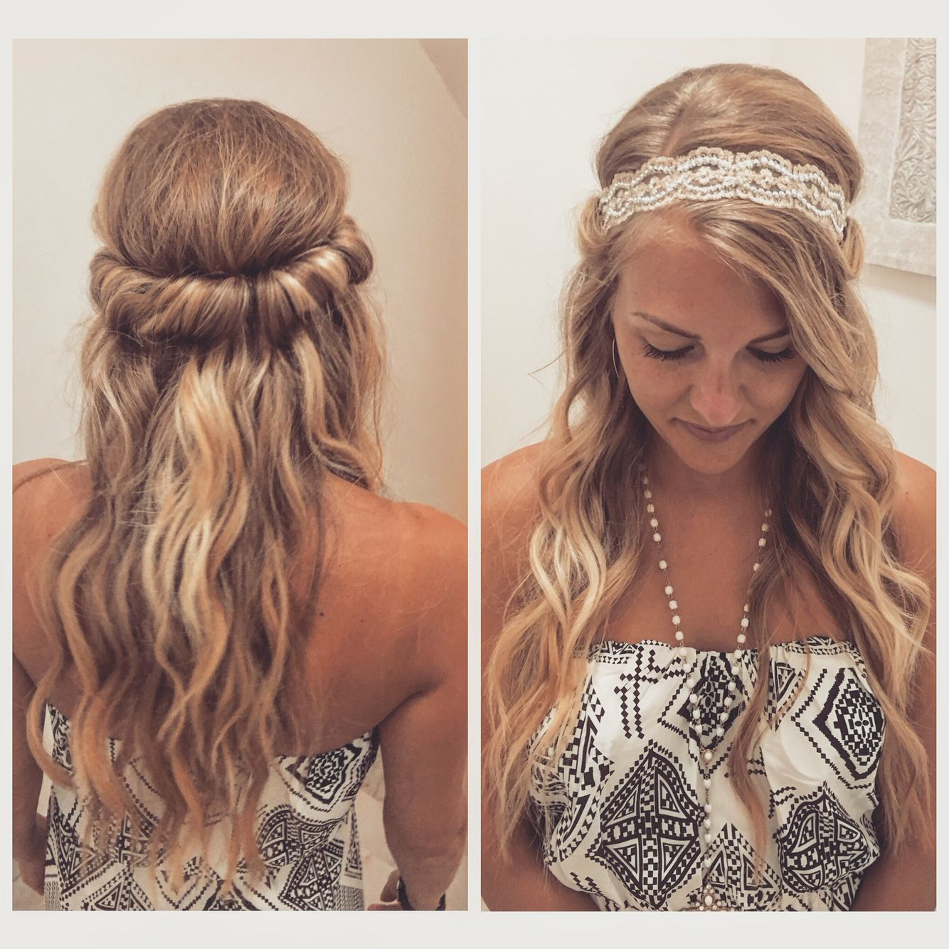 Easy Vacation Hairdo With Beach Waves And A Headband For Well Known Headband Braid Hairstyles With Long Waves (Gallery 6 of 20)