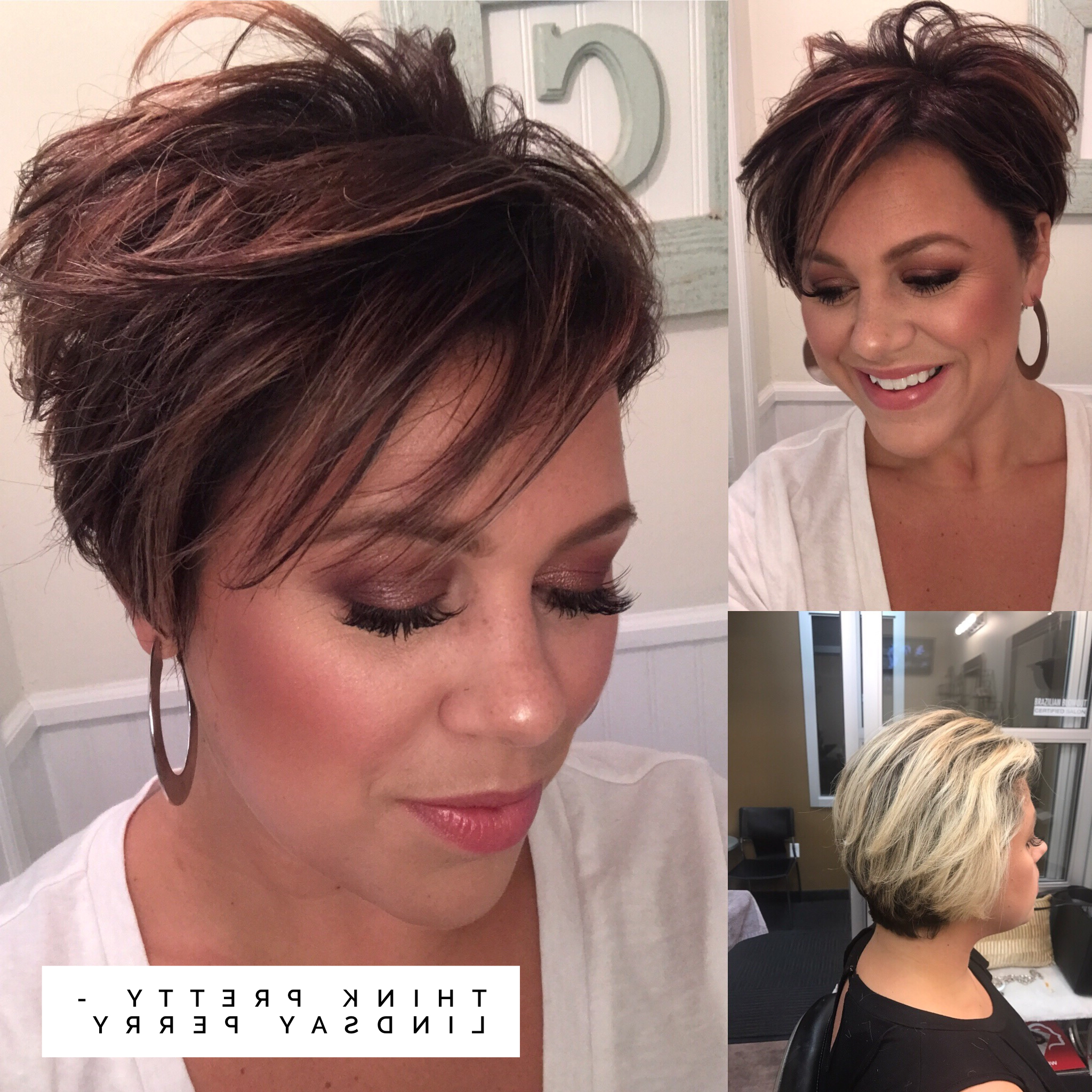 Fall Hair, Short Hair, Pixie Haircut, Pixie, Short Fall Hair Pertaining To Current Short Side Swept Pixie Haircuts With Caramel Highlights (Gallery 5 of 20)