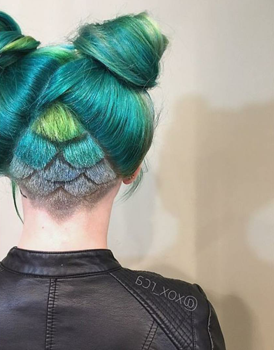 Famous Aqua Green Undercut Hairstyles With Regard To Mermaid Scales@xox_Rca (Gallery 7 of 20)