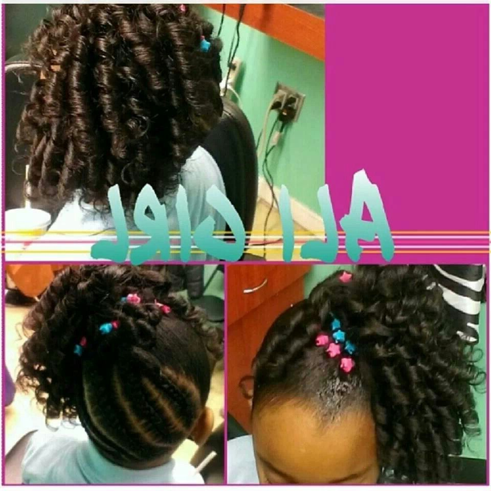 Famous Loose Spiral Braid Hairstyles With Little Girl Hairstyle Braided Back With Spiral Curls (View 4 of 20)