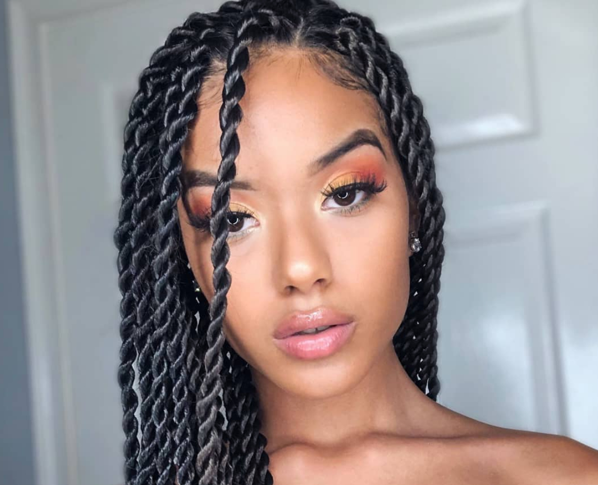 Famous Metallic Side Cornrows Hairstyles Pertaining To 20 Marley Twists Looks For Natural Hair (View 3 of 20)