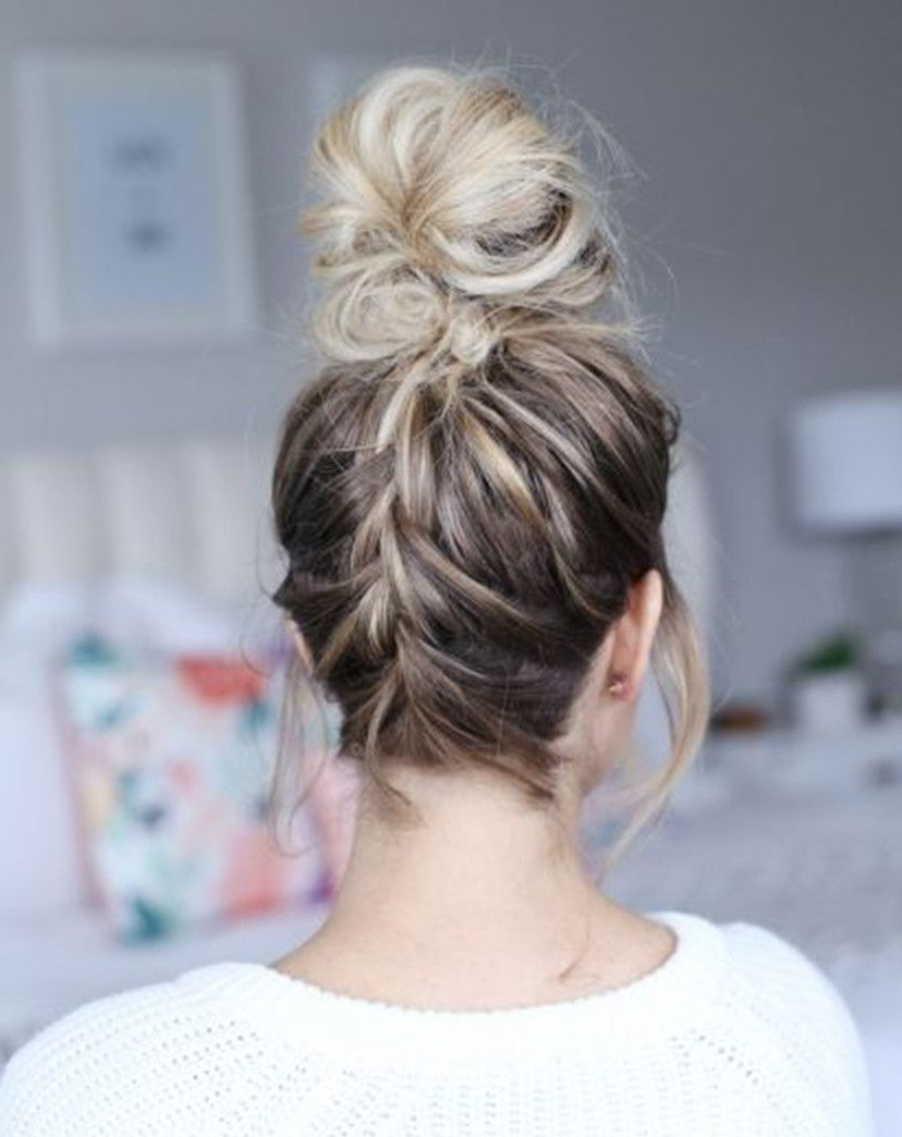 Famous Modern Braided Top Knot Hairstyles In You'll Never Guess Which Beauty Trend Has Overtaken Braids (View 11 of 20)