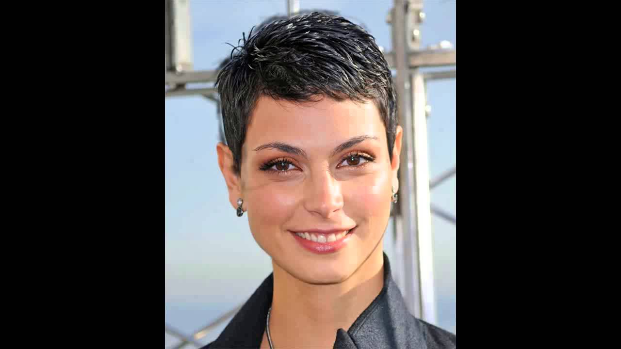 Famous Morena Pixie Haircuts With Bangs With Regard To Morena Baccarin Hairstyles More Short Pixies – Youtube (View 5 of 20)