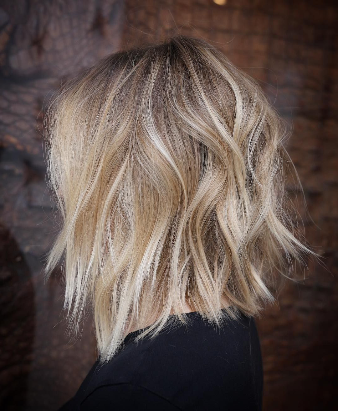 Famous Perfect Shaggy Bob Hairstyles For Thin Hair Inside Stylish Lob Hairstyle, Best Shoulder Length Hair For Women (View 10 of 20)